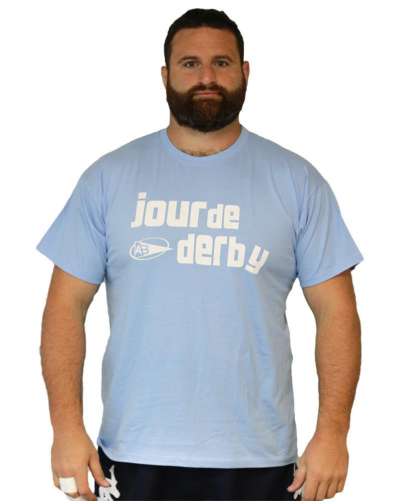 tee shirt derby t shirts homme aviron bayonnais rugby. Black Bedroom Furniture Sets. Home Design Ideas